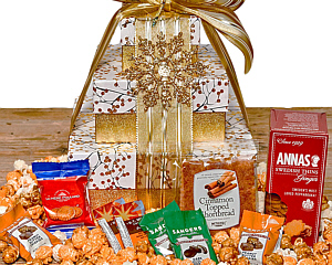 Christmas gift baskets golden branches cookie tower negle Gallery