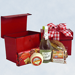 Red Lunch Box Gift Basket