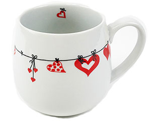 Round Base Heart Cup