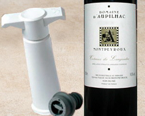 the VacuVin wine preserver tool with a bottle of wine