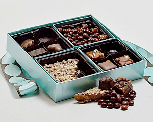 The best of V chocolates in a handsome gift box.